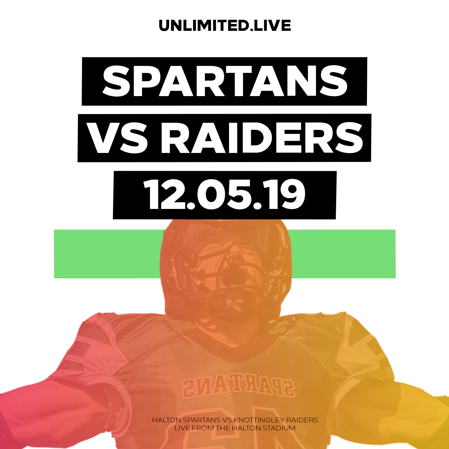 LIVE BAFA: Halton Spartans vs Knottingley Raiders (12/05/2019)